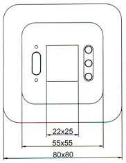 термостат регулятор контролер OJ Electronics OCD2 габариты фас
